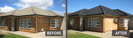Tile Roofing Before & After